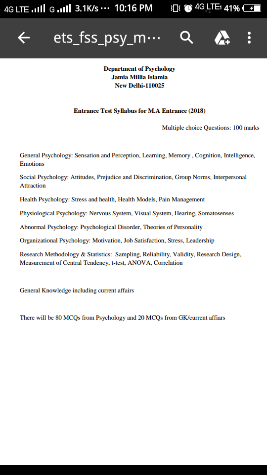 How should I prepare for an M A  in psychology for JMI? - Quora