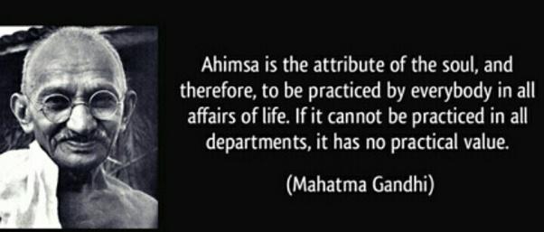 mahatma gandhi views on nonviolence