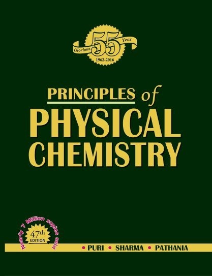 Which is the best physical chemistry book for under graduate quora principles of physical chemistry by puri sharma pathania fandeluxe Images