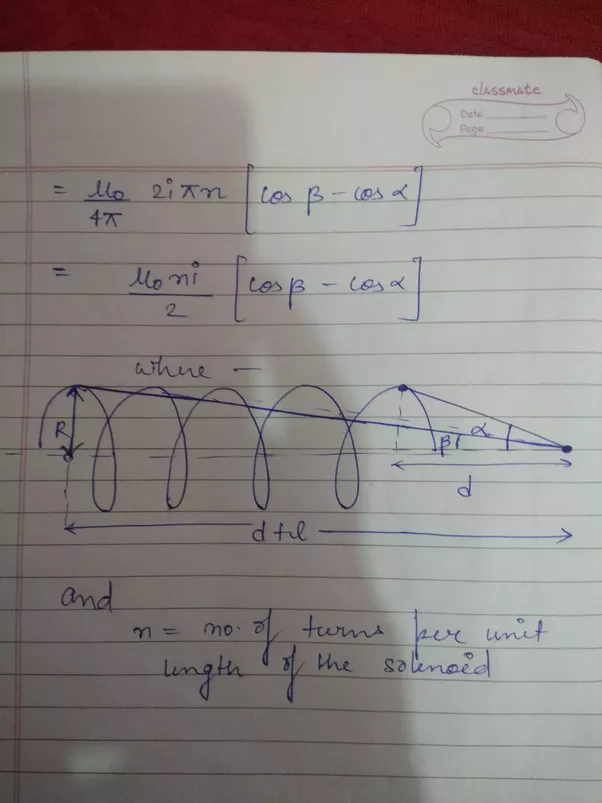 Is the magnetic field of a solenoid independent of its radius and hence you can find the strength of the magnetic fieldb at any point on its axis by integrating small db all along the required length greentooth Images