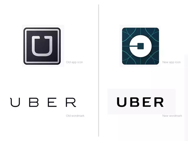 What is the hidden significance of the new Uber Logo which