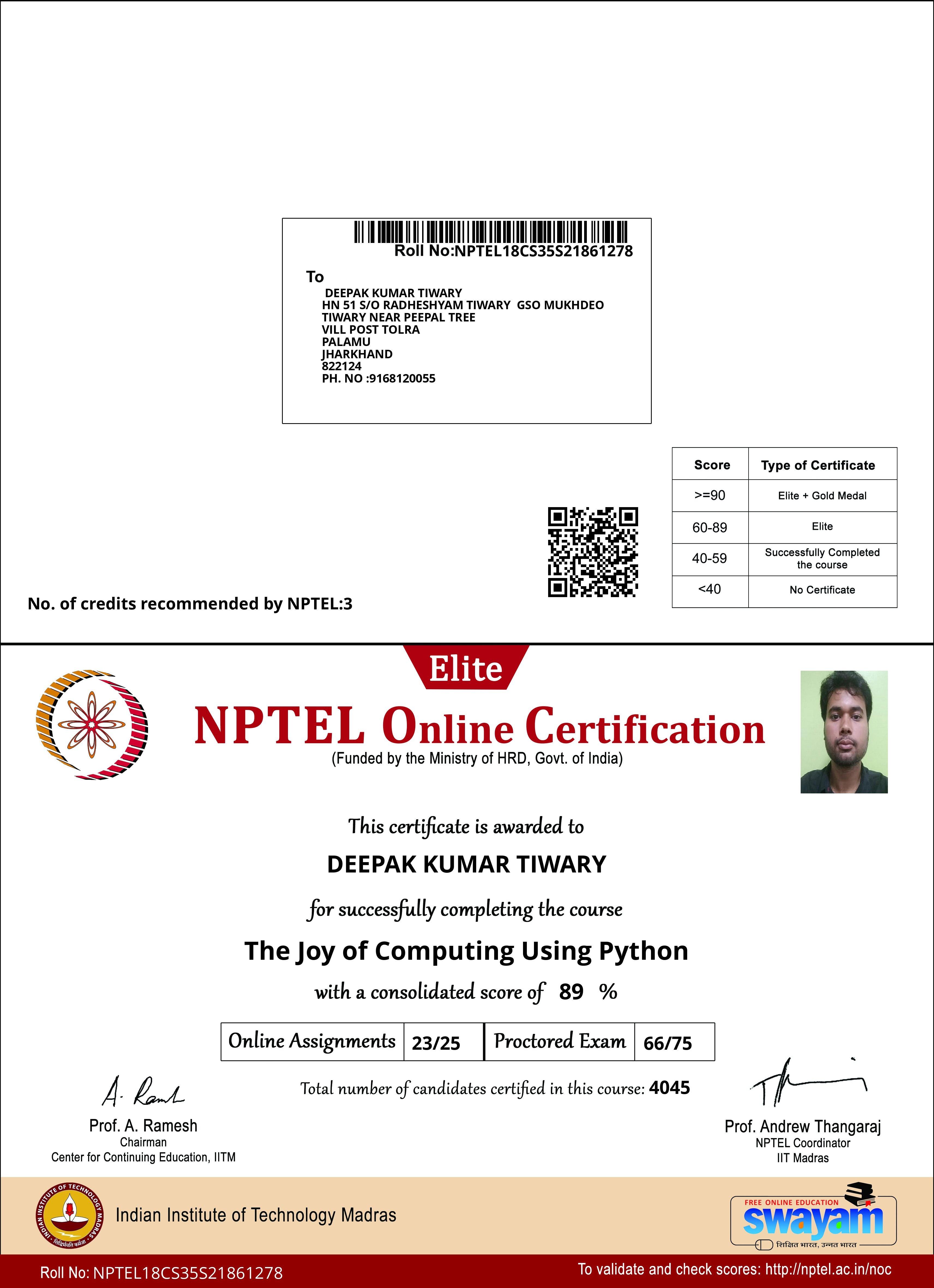 How Is The Joy Of Computing Using Python On Nptel Quora