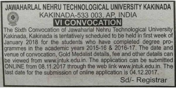 Go To JNTU Kakinada For More Info