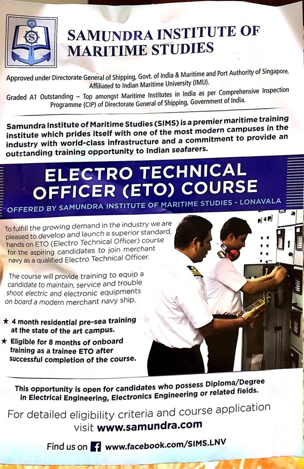 How to join merchant navy after B E  electronics and