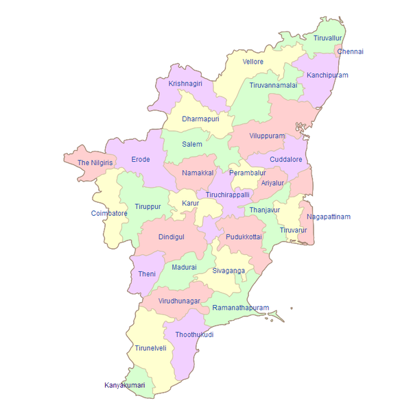 How many districts are there in tamil nadu quora geography of tamil nadu gumiabroncs Image collections