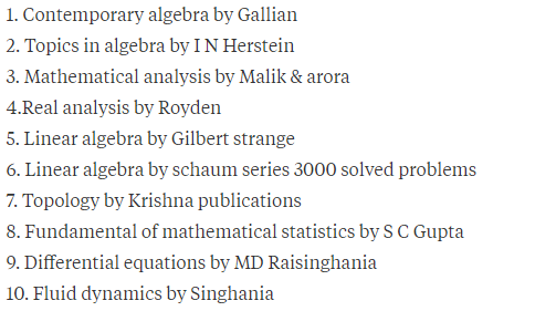 What book should I prefer for CSIR UGC net in mathematics