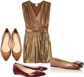 How to Match Gold Shoes