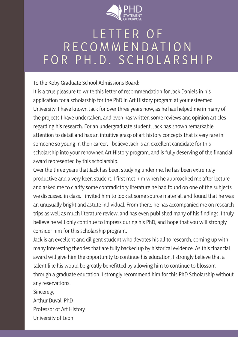 How To Write A Letter Of Recommendation For A Graduate School