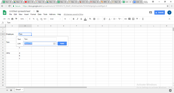 In Google Sheets, how can a cell be made to hyper-link to