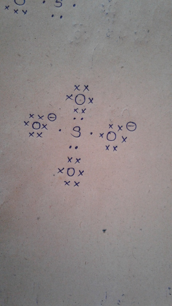 What Is The Electron Dot Structure Of So4