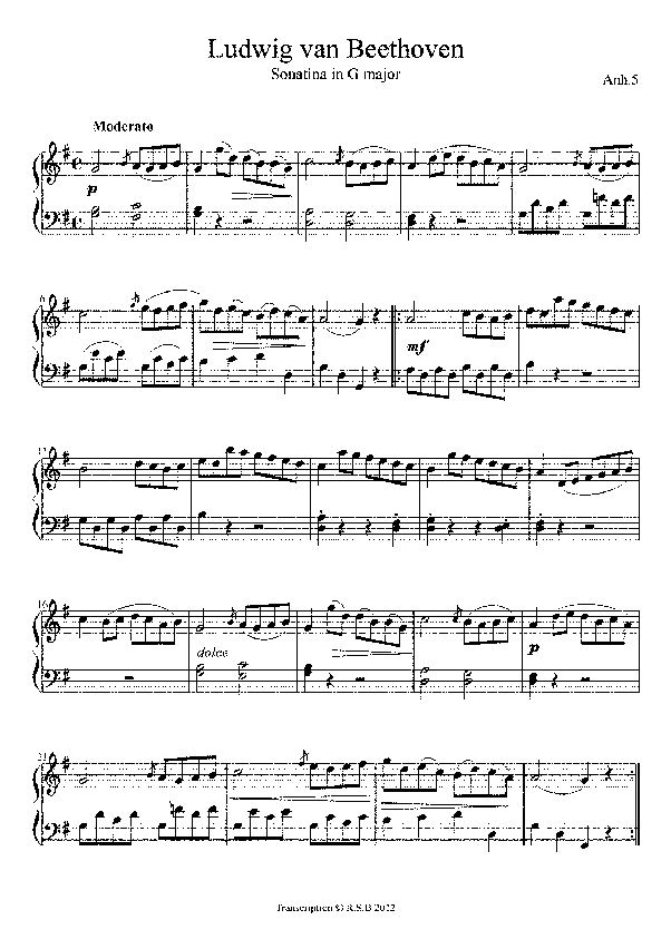 What Are Some Technically Easy Beethoven Sonatas Quora