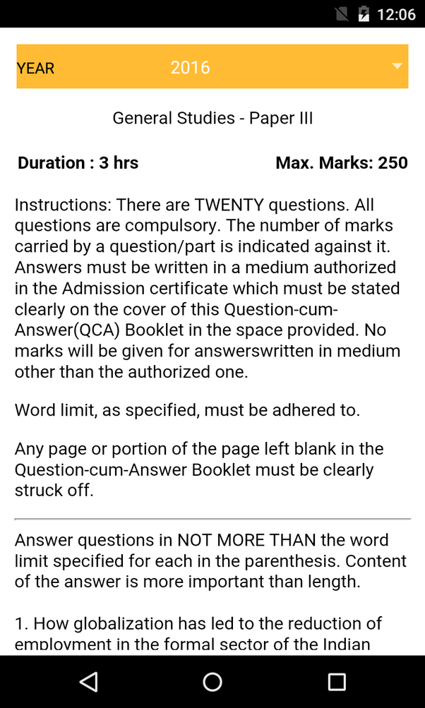 What are the best android apps for upsc civil services exam mains question papers of essay gs1 gs2 gs3 gs4 from 20132016 fandeluxe Gallery