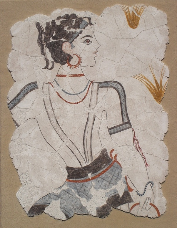 The ancient Minoans also portrayed themselves the same as