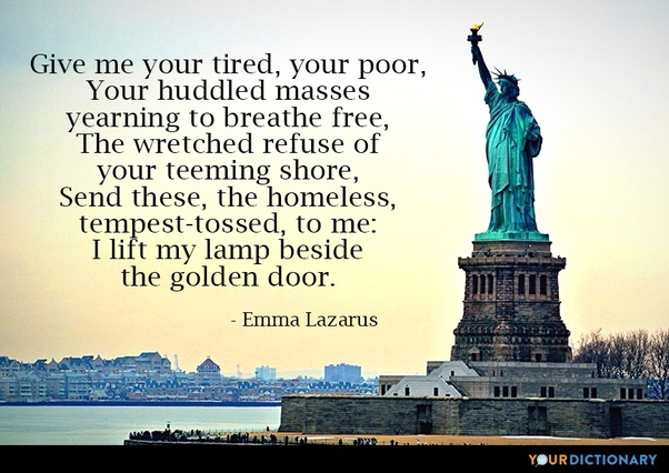 Is It Time To Remove The Emma Lazarus Poem Give Me Your