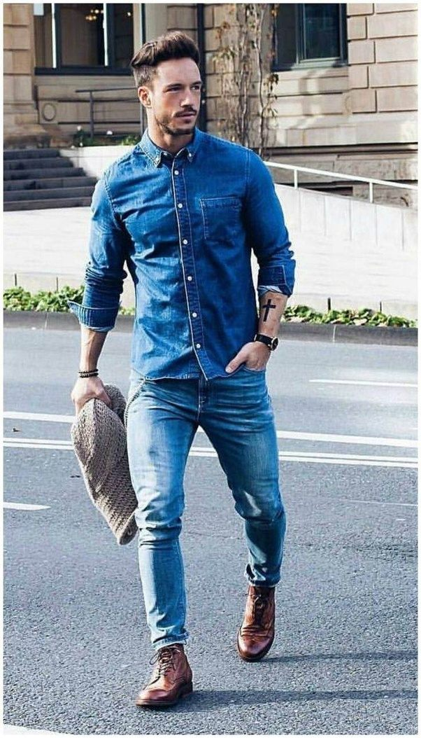 Which shirt matches with blue pants? - Quora
