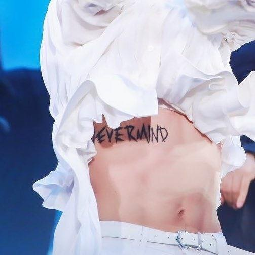 Do You Think That Jimin S Never Mind Tattoo Is Real Quora