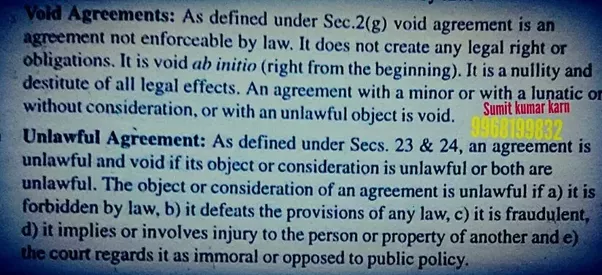 What Is The Difference Between Void Agreement And Illegal Agreement