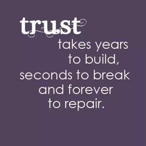 How do you build trust again in a relationship