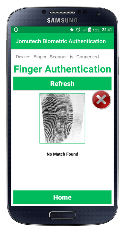 Is it possible to display your fingerprint on a fingerprint
