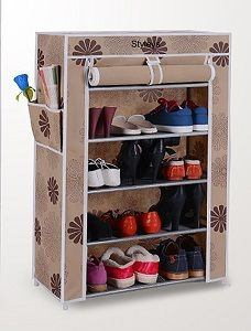 It Is A Beautiful Looking Rack Made From Fabric And Has Printed Design.  Also, Has Side Pocket To Store Paper Of Anything.