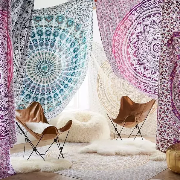 What are some do it yourself ideas to decorate your home quora bedspread bed cover table cloth curtain dorm decor picnic sheet add an ethnic feel to your room with this cotton handmade wall hanging solutioingenieria Images