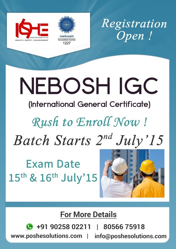 Nebosh IGCis Most Widely Admired Course By Safety Aspirants Worldwide International General Certificate Is Applicable For Those Who Are