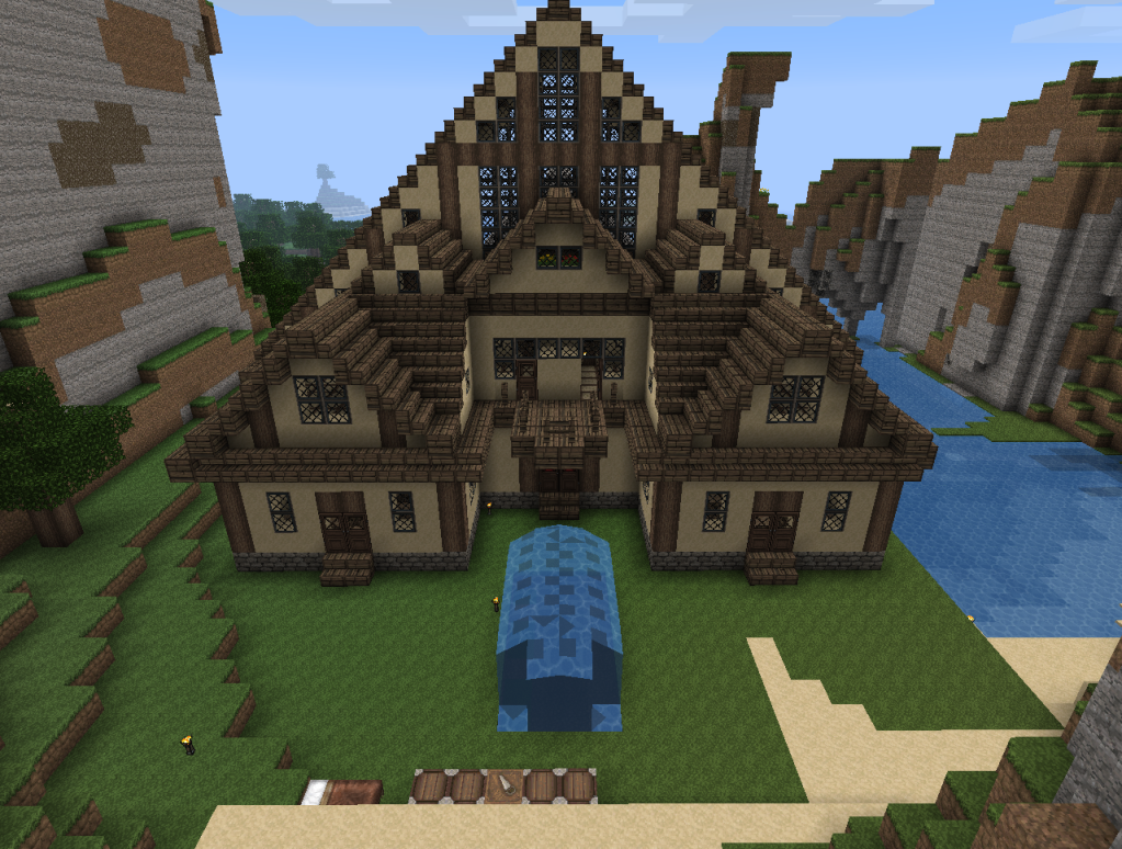 minecraft cabin houses