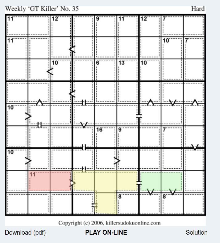 picture relating to Chicago Tribune Daily Sudoku Printable named Killer Sudoku Application
