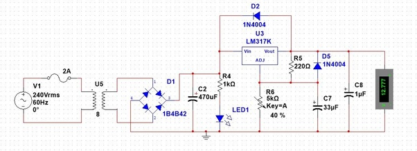 What are the components of variable power supply 0-30v? - Quora Variable Power Supply Schematic on variable voltage and current 130dc, variable tube power supply diagrams, variable high current power supply, variable power supply kits, variable resistor, variable voltage circuit, stepper motor schematic, power source schematic, variable power supply design, variable voltage e-cig battery, variable voltage regulator,