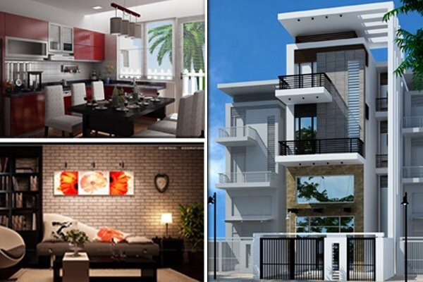 Now I Have A Collage Of 3D Design Pictures Of A Typical House In Big Cities  Of Vietnam Today: