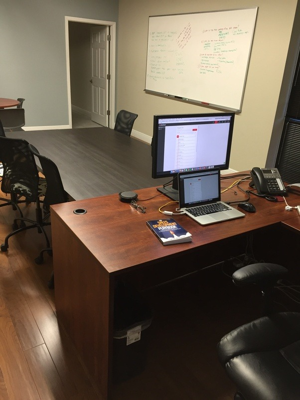 Here Is A Picture Of My Office At Kitedesk When I Think About The Perfect Desk Configuration For S Rep Are Components That