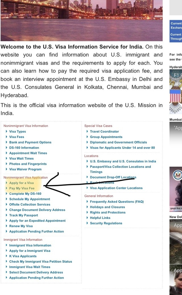 How to apply for a US tourist visa from India? Is the process online