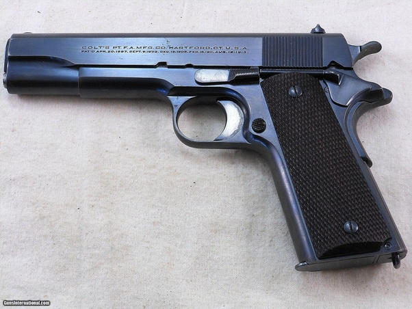 Can you release the slide on a 1911 by pulling it back? Can