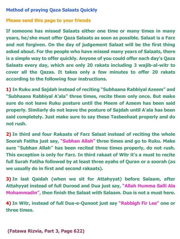 How to pray the Qaza Namaz - Quora