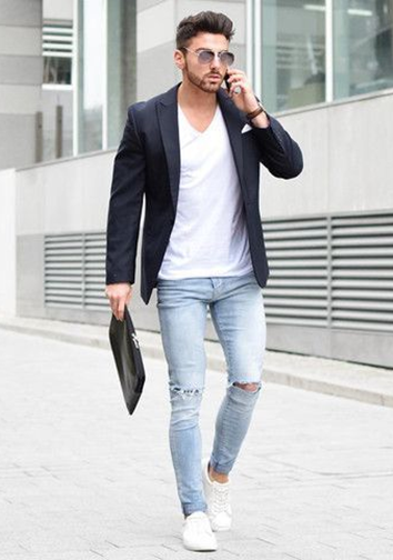 Is A Black Blazer And White T Shirt The Best Combination For Pants