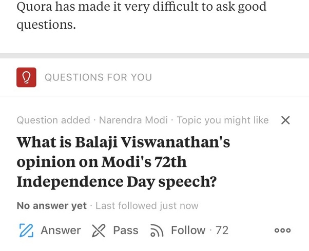 What is Balaji Viswanathan's opinion on Modi's 72th