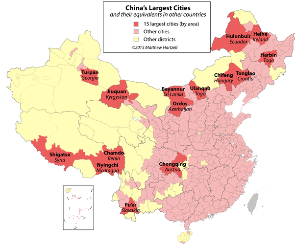 How many cities are there in china quora heres a map of the fifteen largest cities in china by area if you havent heard of most of these youre not alone most are in chinas far north and gumiabroncs