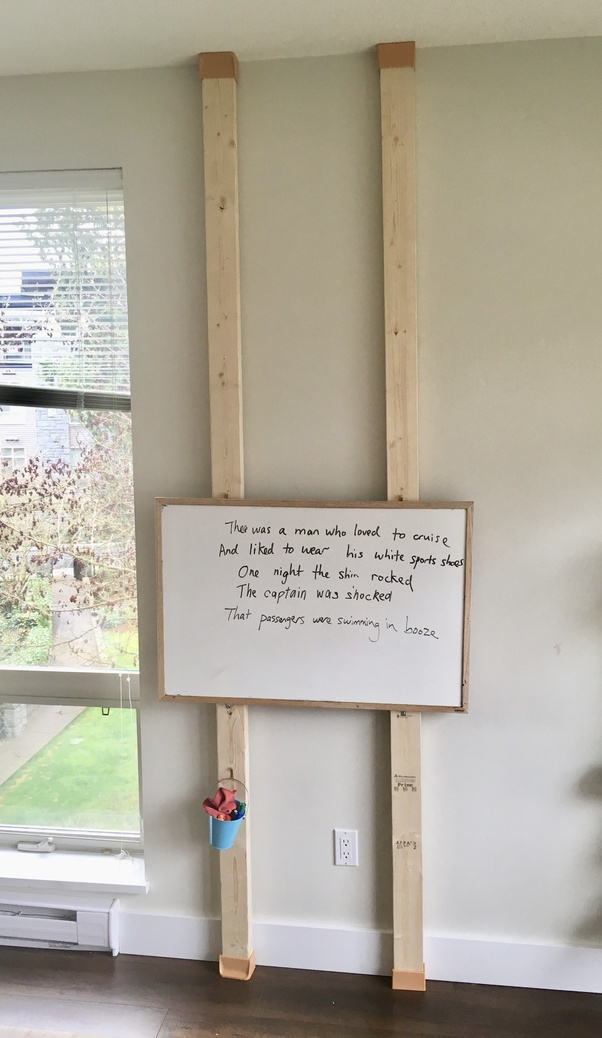 What Is The Best Way To Stick A Heavy White Board Without Drilling The Wall Quora