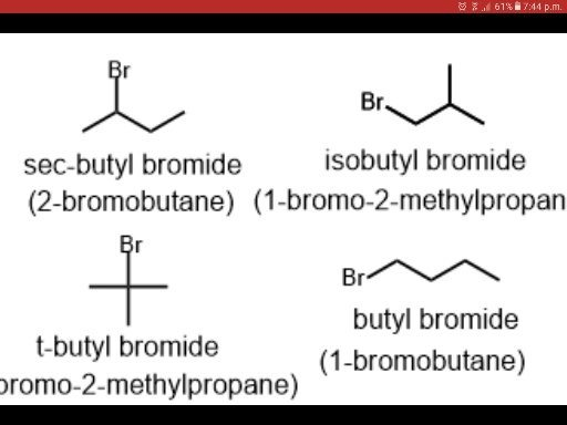 Are Isobutyl bromide and sec butyl bromide considered ...