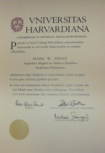 Are Harvard Extension School MLA Diplomas Printed In Latin