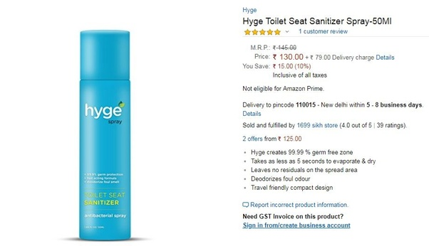 Surprising What Is The Best Toilet Seat Sanitizer In India Quora Inzonedesignstudio Interior Chair Design Inzonedesignstudiocom