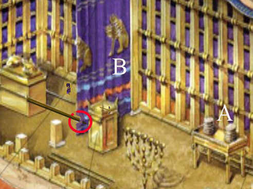 How were the poles for carrying the ark of the covenant positioned ...