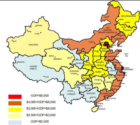 Why is the south part of China much richer than the ...