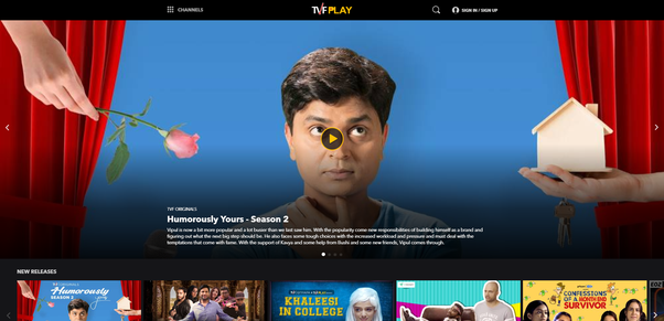 tvf humorously yours season hd login