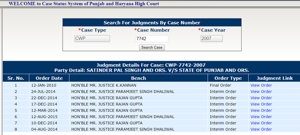 Can you please interpret the status of this case? I have