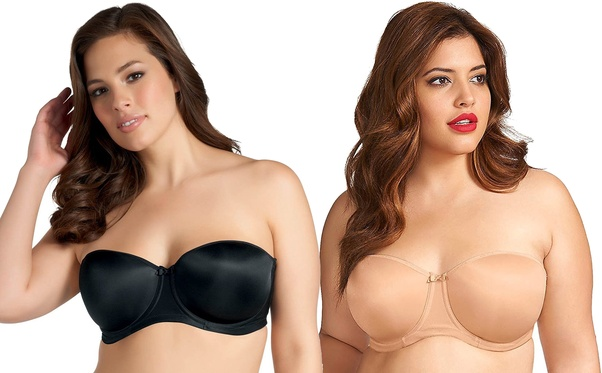 309684f18c While plus size strapless bras are also available in the market which  doesn t contain any shoulder straps but comes with silicon or rubber lining  to provide ...