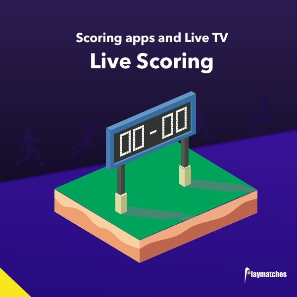 Which software is used to display the live cricket score on