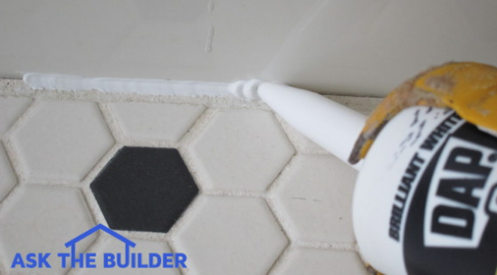 Bathroom Caulk Cure Time Is A Function Of The Temperature And Humidity In  Your Bathroom. This Photo Of Mine Shows A Typical Bathroom Caulk Bead  Before Itu0027s ...