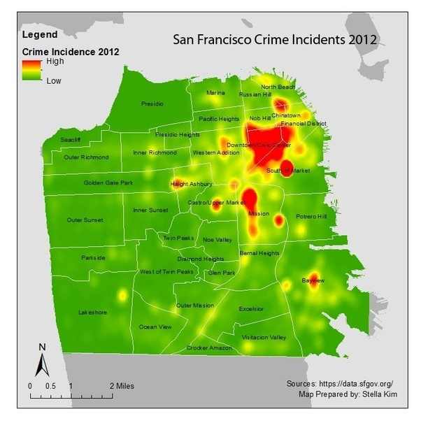 What are the dangerous places of the San Francisco Bay Area