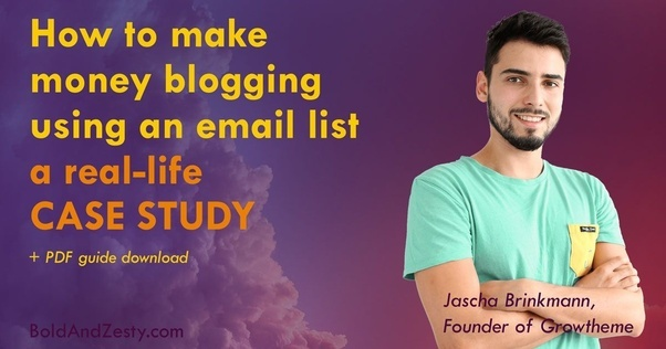 There is a ton of lessons and tips in his story, so if you want to check it  out, here you go: How To Make Money Blogging — Real-Life Case Study
